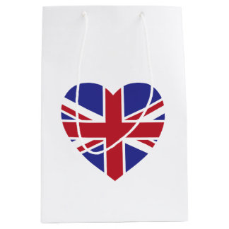 Union Jack Heart Gift Bag