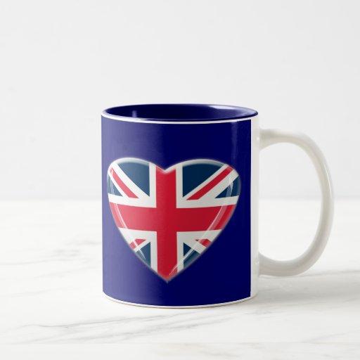 Union Jack Heart Gifts Mugs