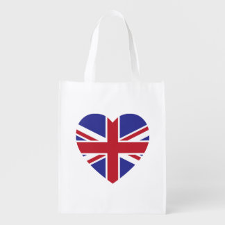 Union Jack Heart Reusable Bag