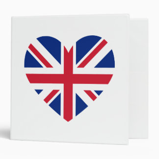Union Jack Heart Shape Vinyl Binders