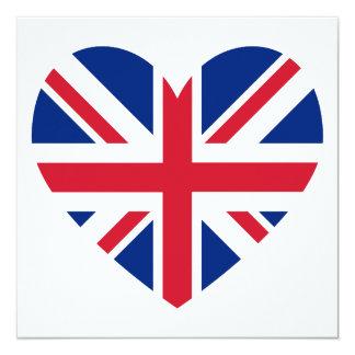Union Jack Heart Shape Card