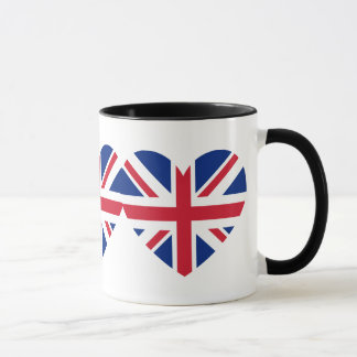Union Jack Heart Shape Mug