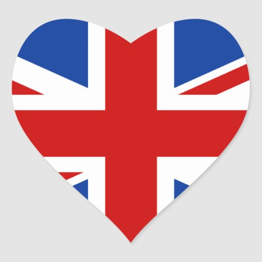 Union Jack Heart Sticker  Zazzle