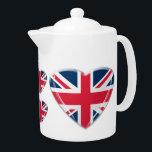 """Union Jack Heart Teapot<br><div class=""""desc"""">Patriotic teapot!</div>"""