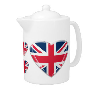 Union Jack Heart Teapot at Zazzle