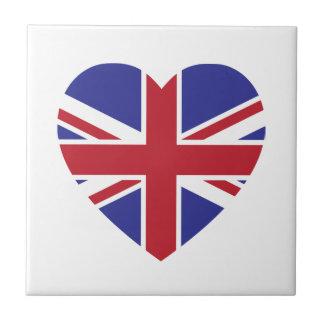 Union Jack Heart Tile