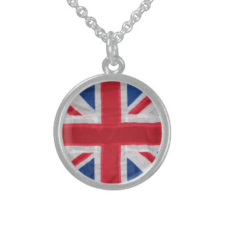 Union Jack Heirloom Sterling Silver Necklace