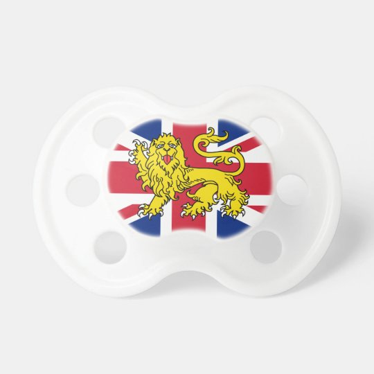 Union Jack Heraldry Lion Baby Pacifier