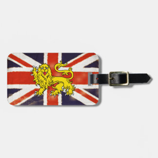Union Jack Heraldry Lion Luggage Tag