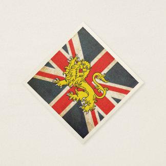 Union Jack Heraldry Lion Posh Paper Napkins