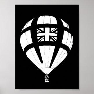Union Jack Hot Air Balloon Print