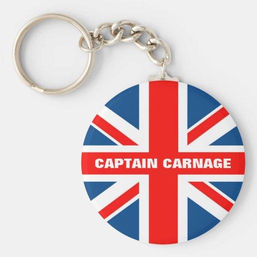 Union Jack humorous Key Chains