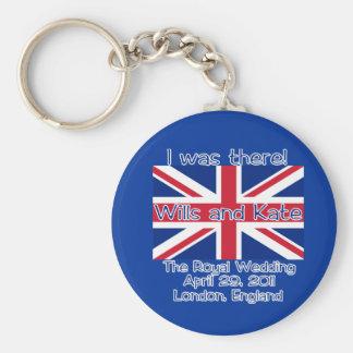 Union Jack I WAS THERE Royal Wedding Tshirt Basic Round Button Keychain