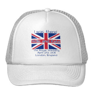 Union Jack I WAS THERE Royal Wedding Tshirt Hats