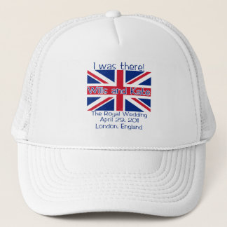 Union Jack I WAS THERE Royal Wedding Tshirt Trucker Hat