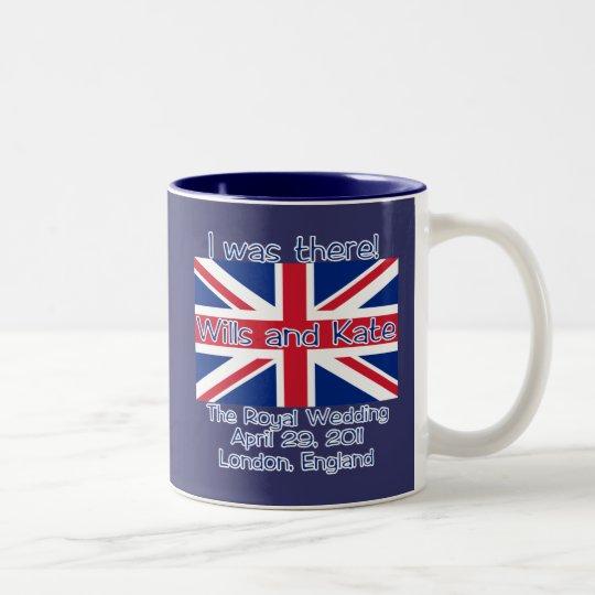 Union Jack I WAS THERE Royal Wedding Tshirt Two-Tone Coffee Mug