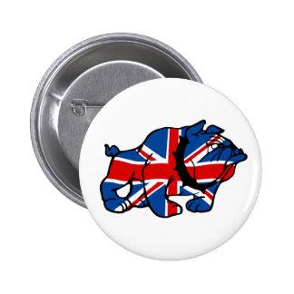 Union Jack impresionante Pin Redondo De 2 Pulgadas