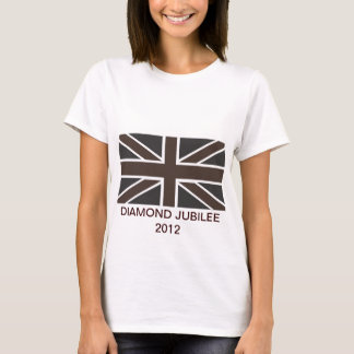 Union Jack in Brown Adult Fitted Tee Shirt