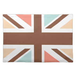 Union Jack - In Designer Brown Placemats