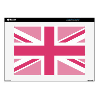 """Union Jack ~ In Girly Pinks Decal For 15"""" Laptop"""