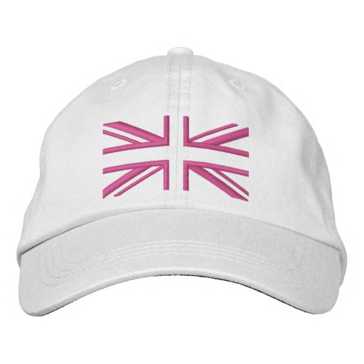 Union Jack ~ In Girly Pinks Embroidered Baseball Hat