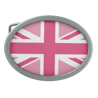 Union Jack in the Pinks Belt Buckle