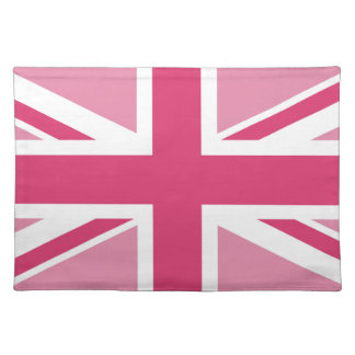 Union Jack in the Pinks Cloth Placemat