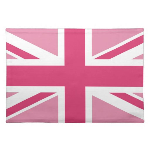 Union Jack in the Pinks Placemats