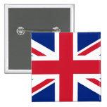Union Jack - insignia Pin Cuadrado