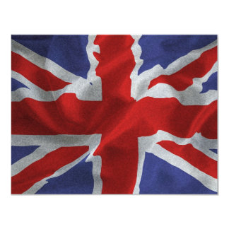 Union Jack 4.25x5.5 Paper Invitation Card