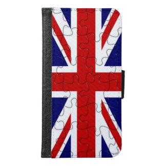 Union Jack Jigsaw Puzzle Samsung Galaxy S6 Wallet Case