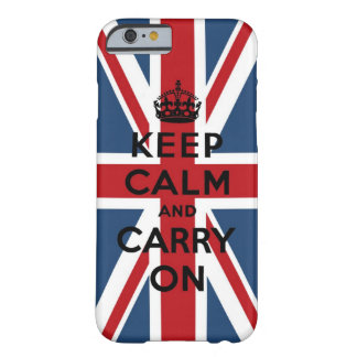 Union Jack Keep Calm And Carry On Barely There iPhone 6 Case