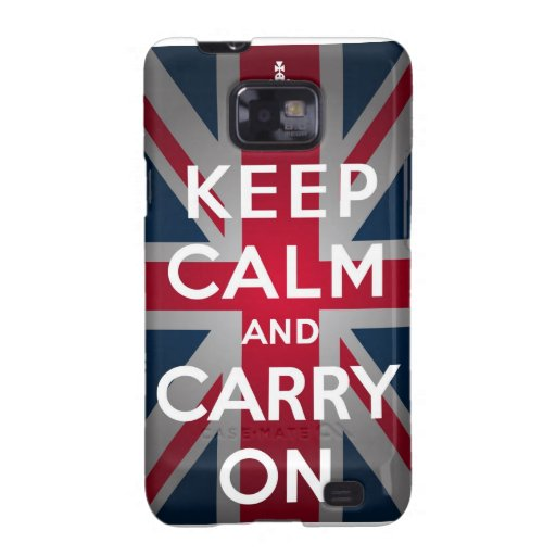 Union Jack Keep Calm And Carry On Samsung Galaxy S2 Case