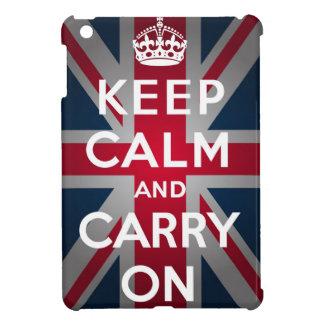Union Jack Keep Calm And Carry On iPad Mini Cover