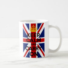 Union Jack Keep Calm and Carry On Mug