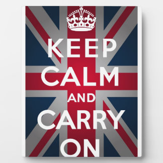 Union Jack Keep Calm And Carry On Photo Plaques