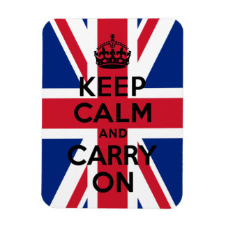Union Jack Keep Calm and Carry On Rectangular Photo Magnet