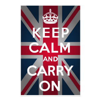Union Jack Keep Calm And Carry On Stationery