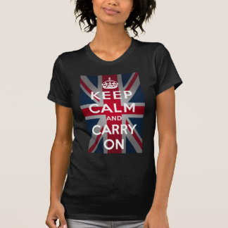Union Jack Keep Calm And Carry On T-Shirt