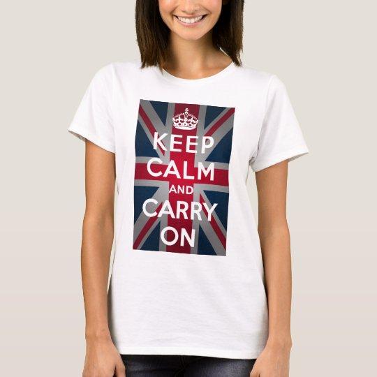Union Jack Keep Calm And Carry On T-Shirt
