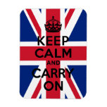 Union Jack Keep Calm and Carry On Vinyl Magnet