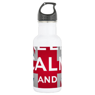 Union Jack Keep Calm And Carry On Water Bottle