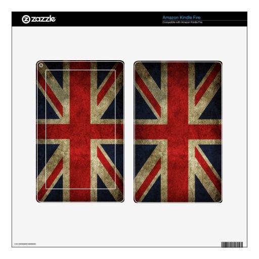 Union Jack Kindle Fire Pegatina Skin