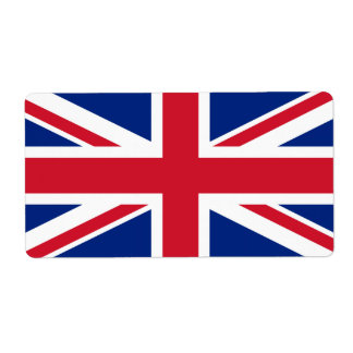 Union Jack Personalized Shipping Labels
