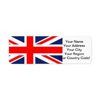 Union Jack Return Address Labels