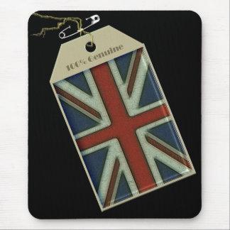 Union Jack Label Mouse Pad