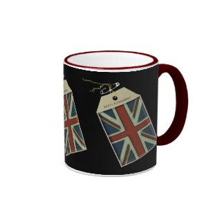 Union Jack Label Ringer Mug