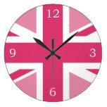 Union Jack Large Clock