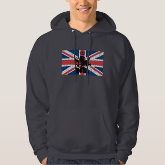 Union Jack Lion Crown (scratched) Hoodie