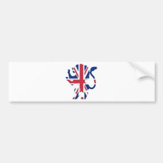 Union Jack Lion Rampant Bumper Sticker